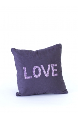 "Coussin 35*35 ""LOVE"" Toile"