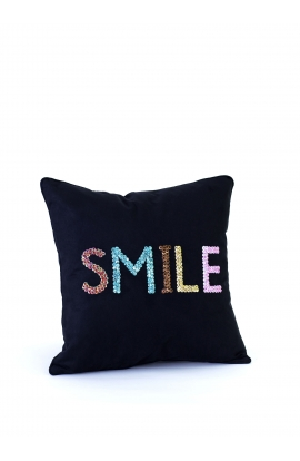 "Coussin 35*35 ""SMILE"" Toile"