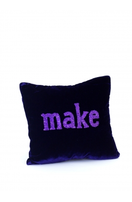 "Coussin 35*35 ""MAKE"" Velours"