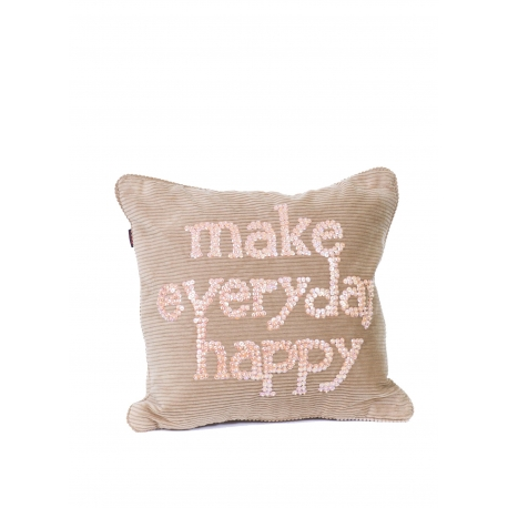 """Coussin 35*35 """"MEH"""" Velours"""