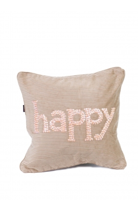 "Coussin 35*35 ""HAPPY"" Velours"