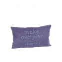 "Coussin 35*60 ""MEH"" Toile"