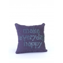 """Coussin 35*35 """"MEH"""" Toile"""